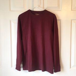 NWT L.L. Bean Red Long sleeve T-Shirt